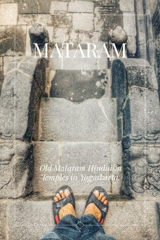 MATARAM Old Mataram Hinduism Temples in Yogyakarta.