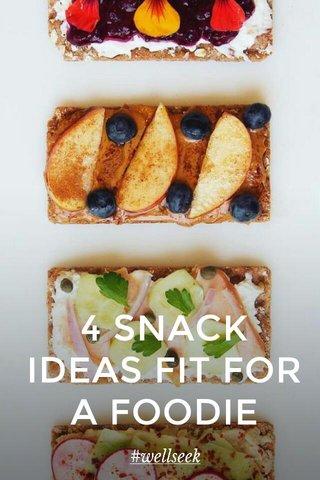 4 SNACK IDEAS FIT FOR A FOODIE #wellseek