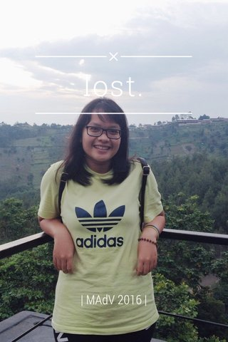 lost. | MAdV 2016 |