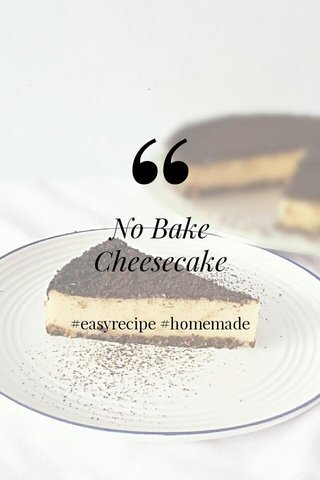 No Bake Cheesecake #easyrecipe #homemade