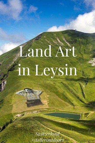 Land Art in Leysin Switzerland #stelleroutdoors