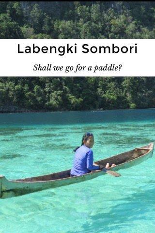 Labengki Sombori Shall we go for a paddle?