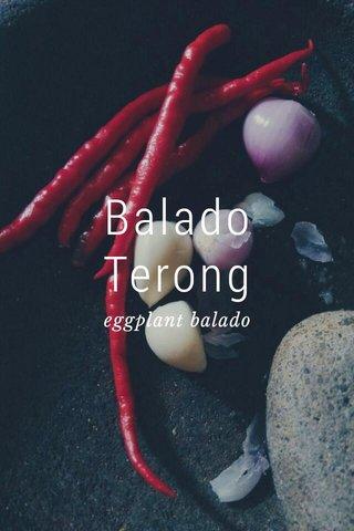 Balado Terong eggplant balado