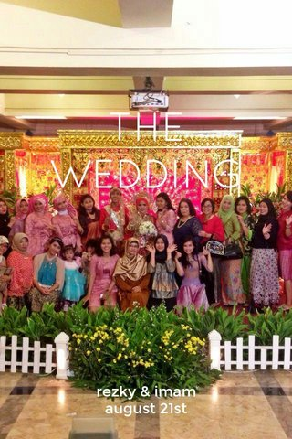 THE WEDDING rezky & imam august 21st