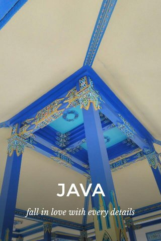 JAVA fall in love with every details