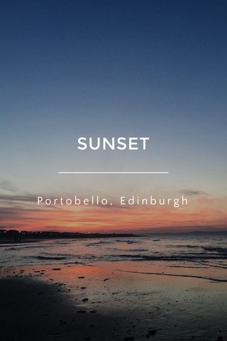 SUNSET Portobello, Edinburgh