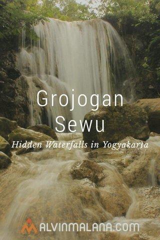 Grojogan Sewu Hidden Waterfalls in Yogyakarta