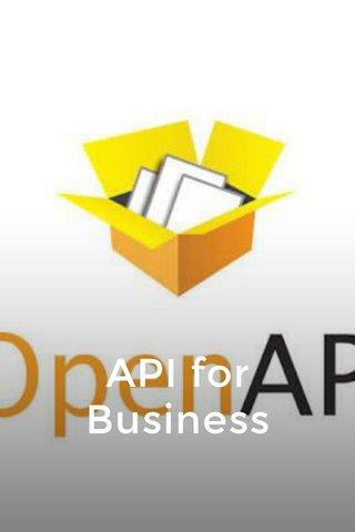 API for Business