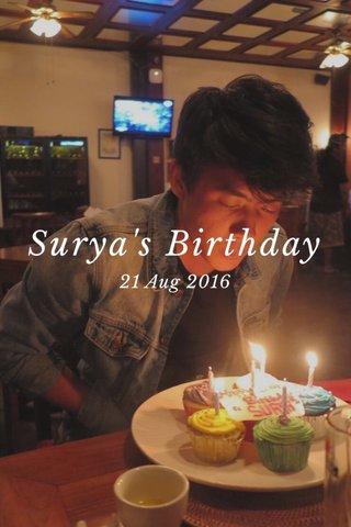 Surya's Birthday 21 Aug 2016