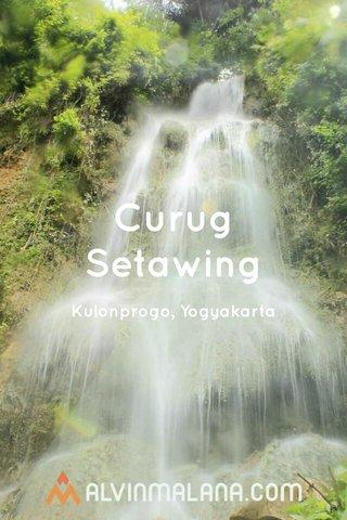 Curug Setawing Kulonprogo, Yogyakarta