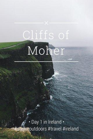 Cliffs of Moher • Day 1 in Ireland • #stellaroutdoors #travel #ireland