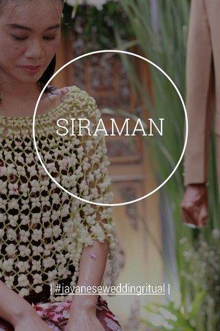 SIRAMAN   #javaneseweddingritual  