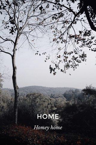 HOME Homey home
