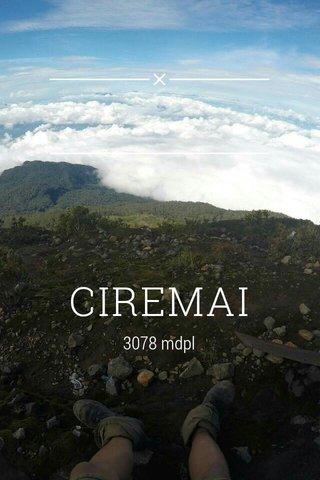 CIREMAI 3078 mdpl