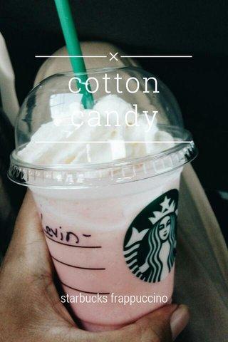 cotton candy starbucks frappuccino