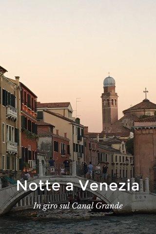 Notte a Venezia In giro sul Canal Grande