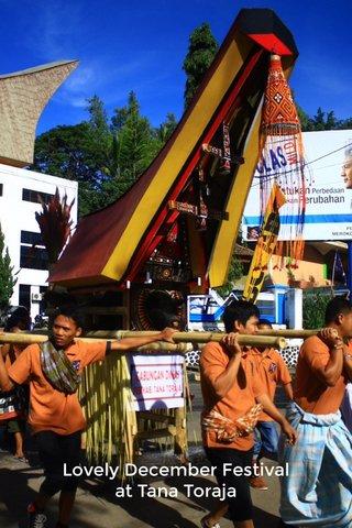 Lovely December Festival at Tana Toraja