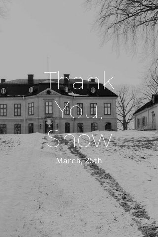 Thank You, Snow March, 25th