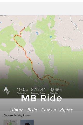 MB Ride Alpine - Bella - Canyon - Alpine