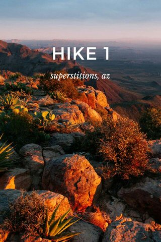 HIKE 1 superstitions, az