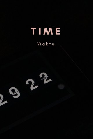 TIME Waktu