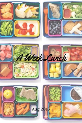 A Week Lunch Aug 2016