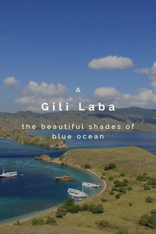 Gili Laba the beautiful shades of blue ocean