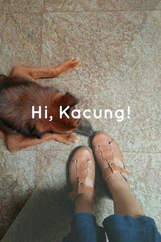 Hi, Kacung!