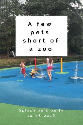 A few pets short of a zoo Splash park party 10-08-2016