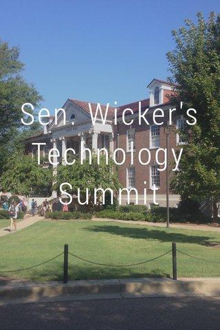 Sen. Wicker's Technology Summit
