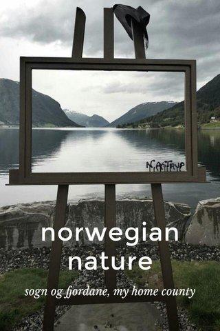 norwegian nature sogn og fjordane, my home county
