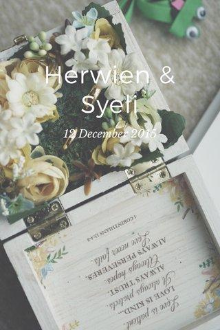 Herwien & Syeli 12 December 2015