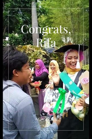 Congrats, Rifa #GoodLuck