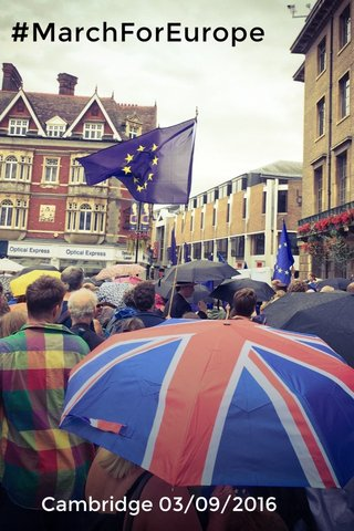 #MarchForEurope Cambridge 03/09/2016
