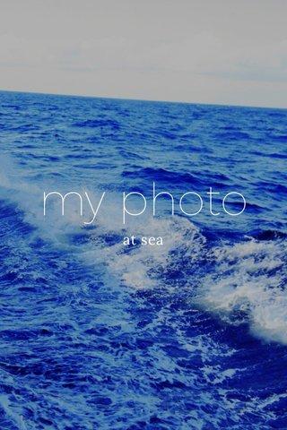 my photo at sea