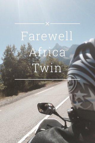 Farewell Africa Twin