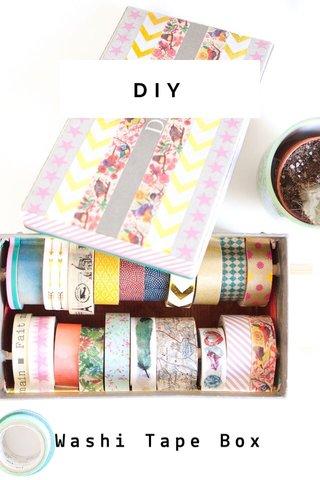 DIY Washi Tape Box