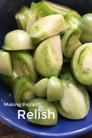 Relish Making Piccalilli