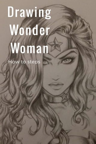Drawing Wonder Woman How to steps