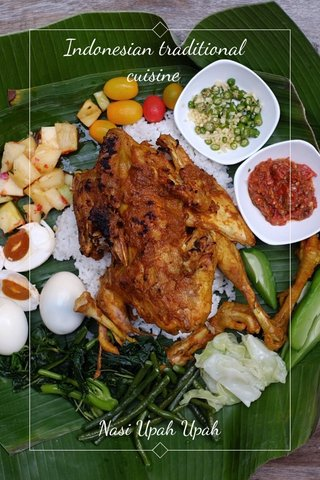 Indonesian traditional cuisine Nasi Upah Upah