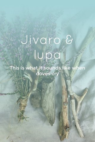 Jivaro & lupa This is what it sounds like when doves cry