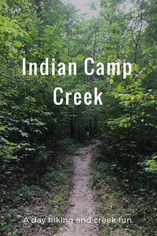 Indian Camp Creek A day hiking and creek fun.