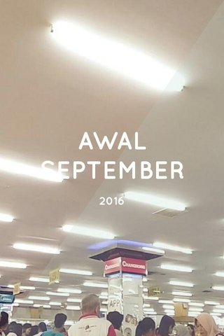 AWAL SEPTEMBER 2016