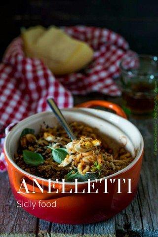 ANELLETTI Sicily food