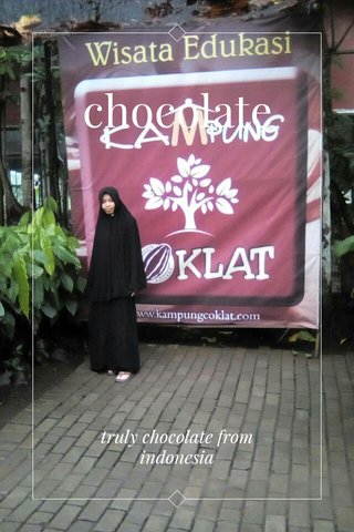 chocolate truly chocolate from indonesia