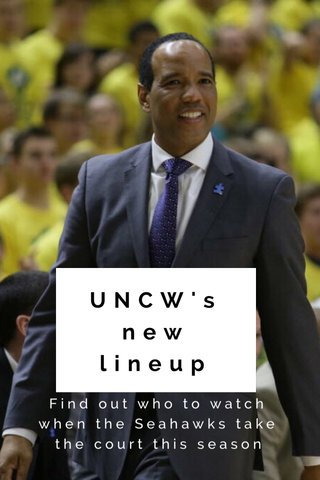 UNCW's new lineup Find out who to watch when the Seahawks take the court this season