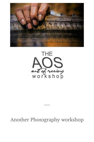 Another Photography workshop