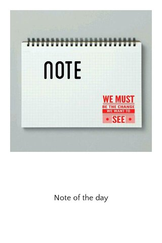 Note of the day