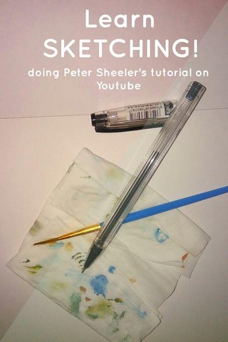Learn SKETCHING! doing Peter Sheeler's tutorial on Youtube