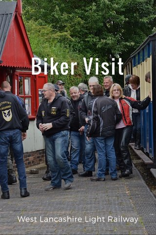 Biker Visit West Lancashire Light Railway
